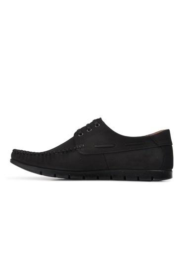 Ayakmod 415 Haki Nubuk Hakiki Deri Erkek Günlük Ayakkabı Siyah